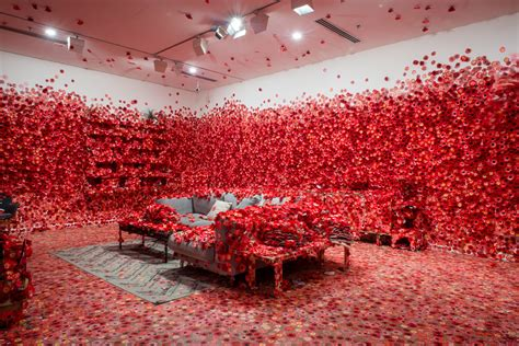 flower design melbourne yayoi kusama s flower obsession invites guests to cover