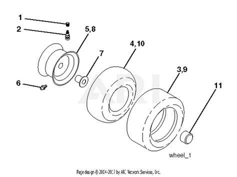 poulan polt    parts diagram  wheels tires
