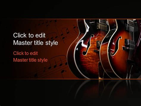 musical powerpoint templates free guitar ppt template