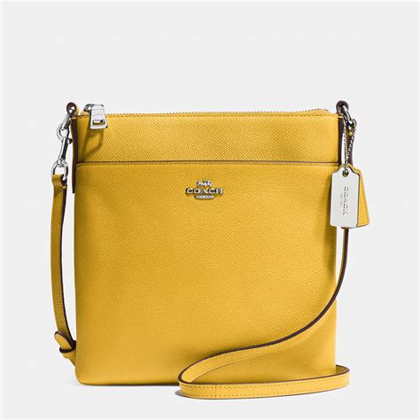 Coach Emboss coach south swingpack in embossed textured leather