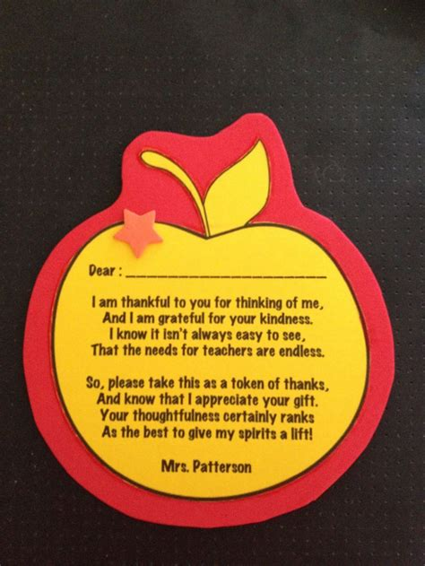 Thank You Letter To Parents For Gift As I Am A Bit Fashioned I Always Like To Write Thank You Cards For Students Who Give Me