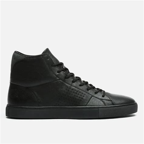 all black high top sneakers perforated high top all black paul of sneakers