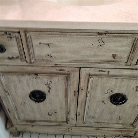 distressed vintage bathroom vanity traditional