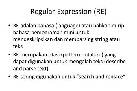 pattern language adalah regular language