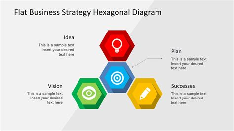 diagram strategy flat business strategy hexagonal powerpoint diagram slidemodel