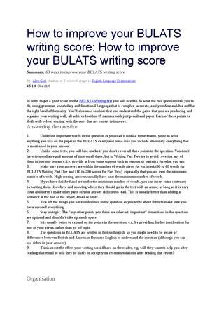 How To Improve Essay Writing by How To Improve Your Bulats Writing Score By Yeliz 246 Z 231 Elik Issuu