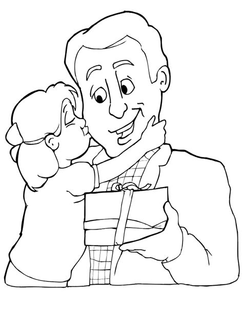 father holding daughter coloring pages