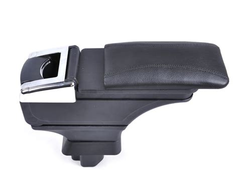 Armrest For new arrival leatherette padding black storage box armrest centre console for nissan versa tiida
