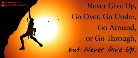 Never Give Up, Go Over, Go Under, Go Around, or Go Through ...
