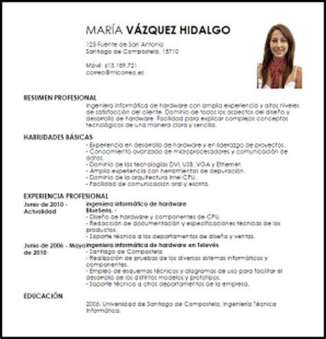 Plantilla De Curriculum Informatico Modelo Curriculum Vitae Ingeniero Inform 225 Tico De Hardware Livecareer