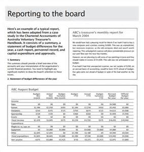 board report template 14 board report templates free sle exle format