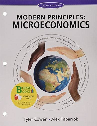 modern principles microeconomics books modern principles microeconomics by cowen direct textbook
