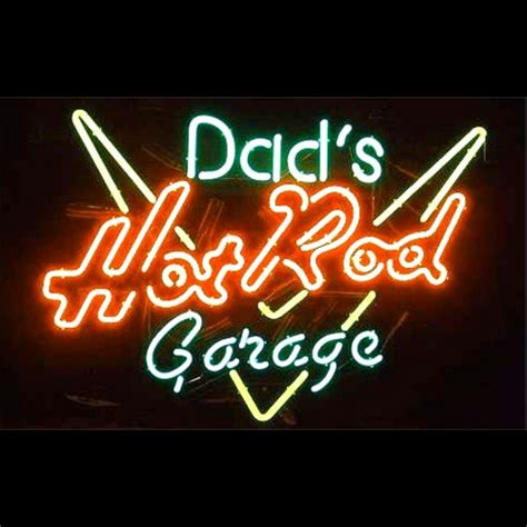 Neon Garage Signs by Dads Rod Garage Neon Sign Free Shipping