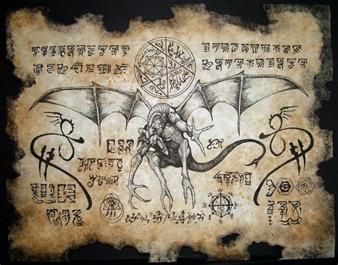 libro painting now dragon runes larp necronomicon fragment