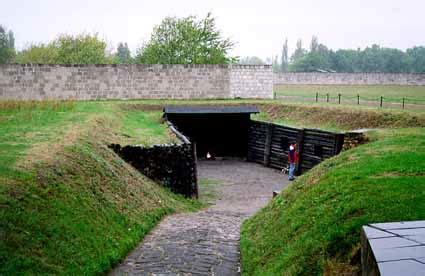 Portable Shooting Bench Gas Chamber Ruins At Sachsenhausen Station Z Execution Site