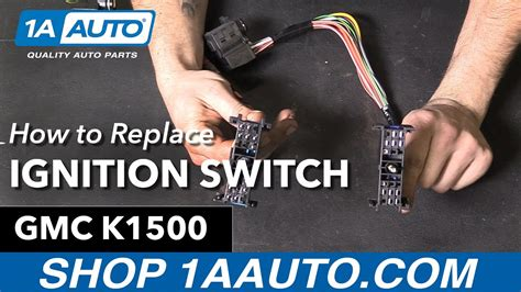 how to replace install ignition starter switch 1995 96 gmc sierra buy auto parts at 1aauto com