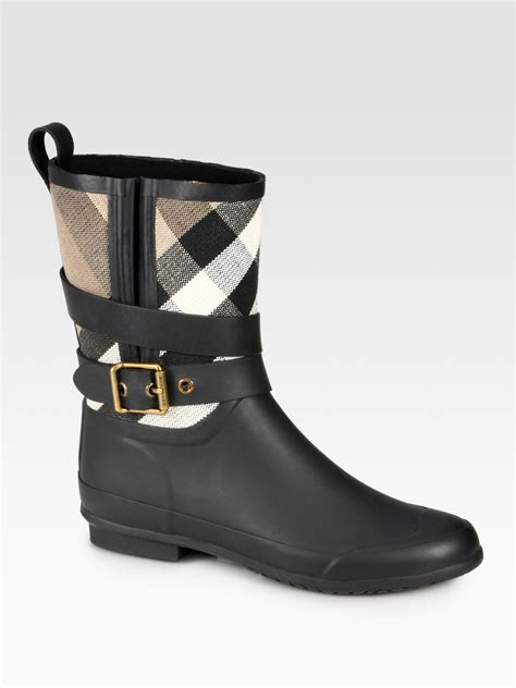 burberry boots for burberry holloway canvas boots in black lyst