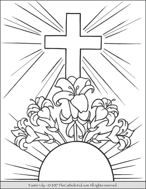 coloring pages of easter lilies easter coloring page catholic coloring pages for