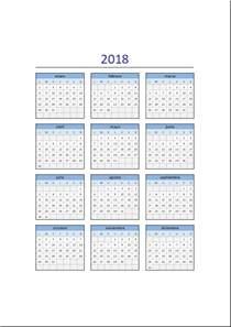 Calendario 2018 Excel Calendario 2018 En Excel Listo Para Imprimir Excel Total