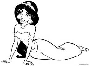 coloring pages for princess jasmine images