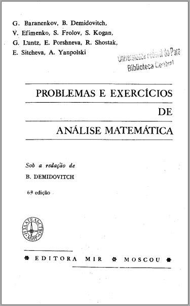 Demidovich - Problemas e exercicios de Analise Matematica