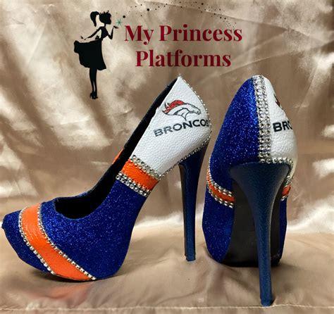 denver broncos high heels denver broncos high heels more styles by myprincessplatforms