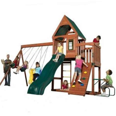 swing sets at home depot swing n slide playsets knightsbridge wood complete playset