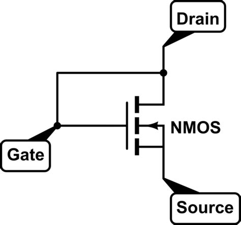 diode connected resistance transistor configured as diode electrical engineering stack exchange