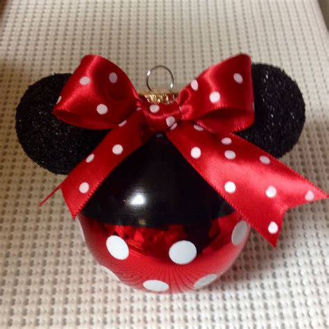 Handmade Minnie Mouse Decorations - my 1st minnie mouse ornament i made for my disney tree