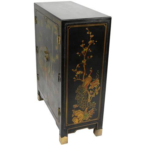 oriental sofas oriental furniture black lacquer nestling birds cabinet ebay