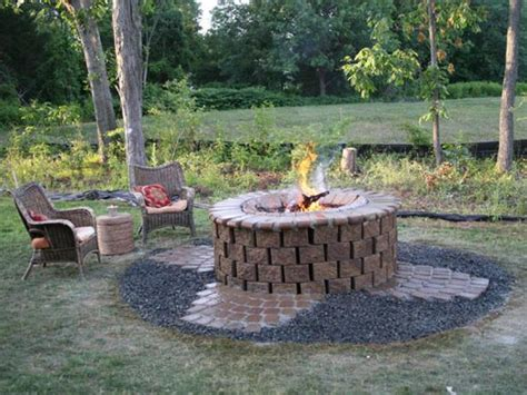 backyard firepit brick pit design ideas hgtv