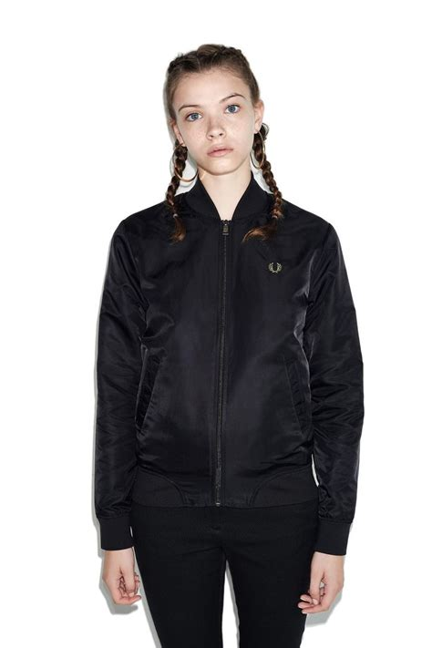 Jaket Forwad Harrington Black fred perry unlined bomber jacket black dressed fred perry