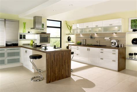 white gloss kitchen ideas gloss shaker white kitchen design stylehomes net