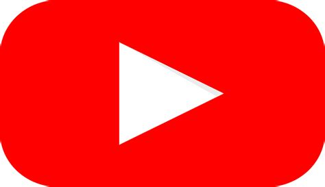 youtube red color free vector graphic youtube logo graphic red free