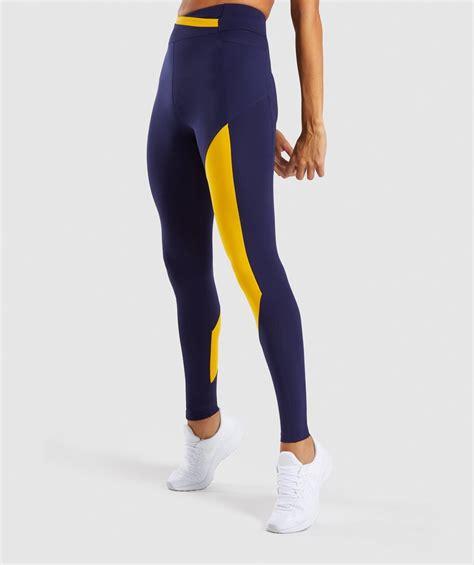 gymshark asymmetric leggings evening navy bluecitrus