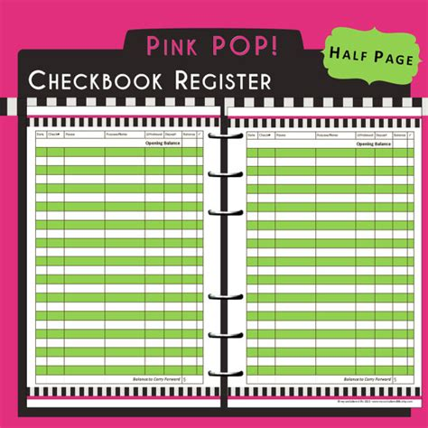 printable check journal items similar to us half page printable checkbook