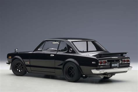 nissan black car old highly detailed autoart diecast model black nissan skyline