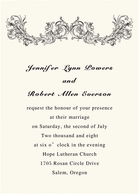 simple wedding invitation wordings for friends simple vintage ivory printable wedding invitations with