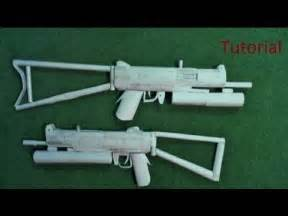How To Make Paper Weapons That Work - paper sta 11 submachine gun tutorial