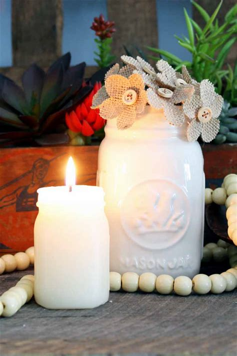 Custom Candles Custom Candles In A Jar Shape The Country Chic Cottage