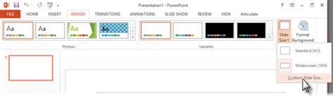 powerpoint design tab first do one of the following depending on your version