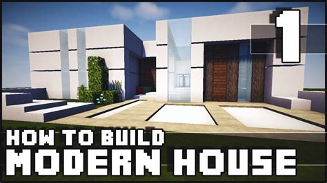 how to build on to your house minecraft house how to build modern house part 1