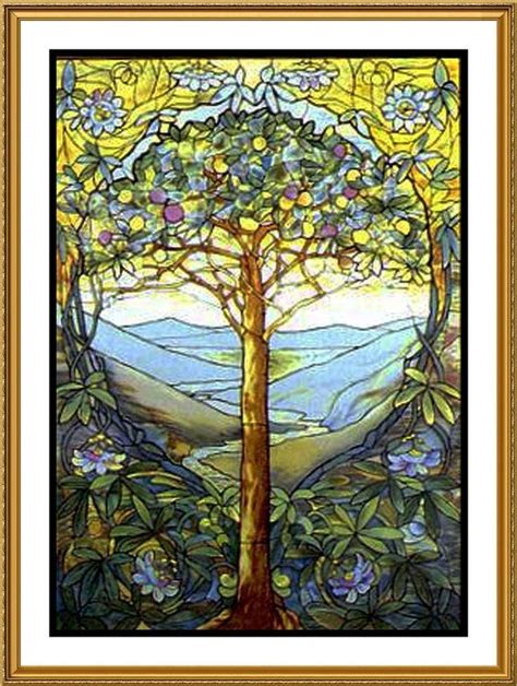 louis comfort tiffany stained glass louis comfort tiffany tree of life from stained glass
