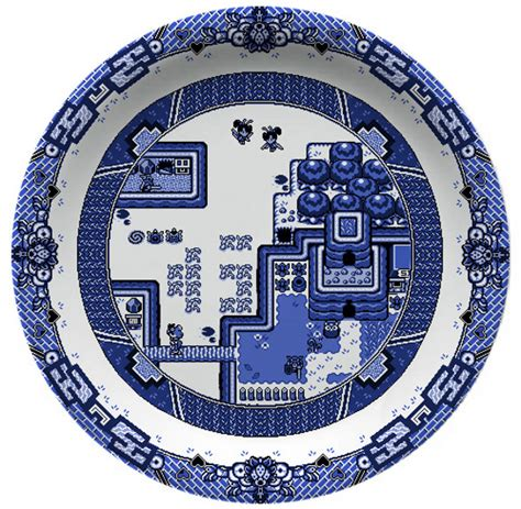 willow pattern art ideas video game themed willow pattern plates incredible things