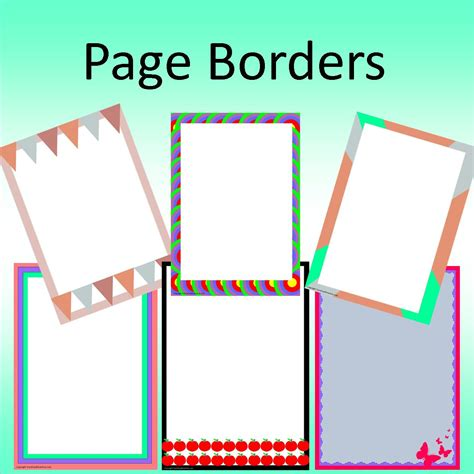 free page borders for microsoft word cool page borders templates