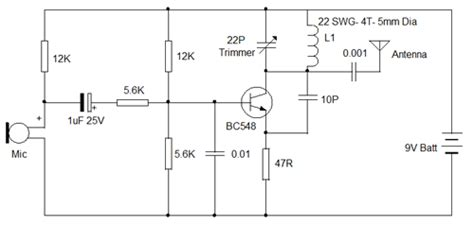 bc547 transistor fm transmitter fm voice transmitter design trick 5 electronics hobby