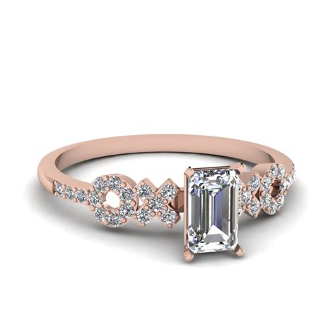 emerald cut thin band ring fascinating diamonds