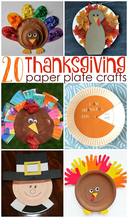 Thanksgiving Paper Crafts For - thanksgiving paper plate crafts for crafty morning