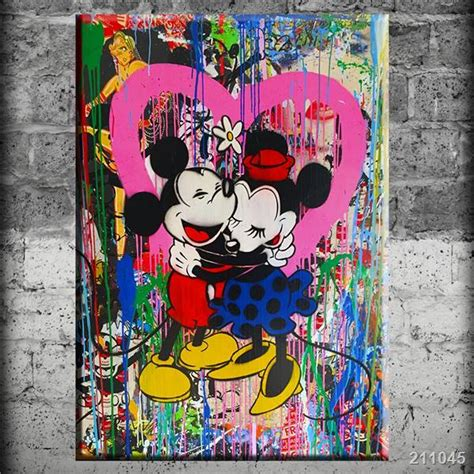 Wholesale Home Decor Stores by Canvas Painting Alec Monopoly Mickey And Minnie Poster For
