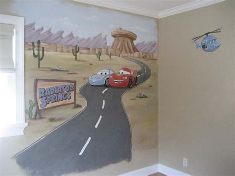 Hand Painted Wall Mural hand painted wall murals stencils for kids room